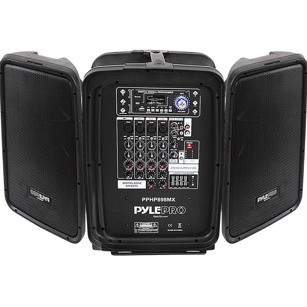 Pyle Pro Pphp898mx Portable Bluetooth Stereo Pa System Pphp898mx