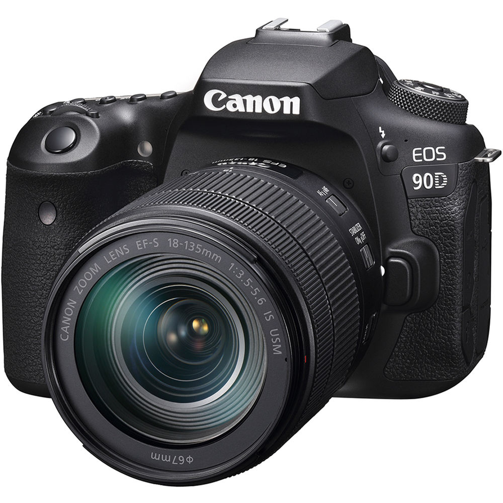 Canon EOS 90D DSLR Camera with 18-135mm Lens 3616C016 B&H Photo