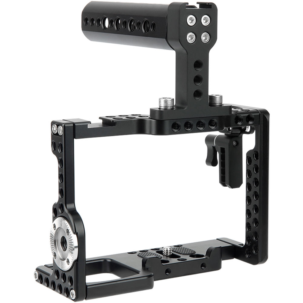 NICEYRIG For Sony A9//A7MIII//A7RIII//A7RII//A7SII Camera Cage Wooden Nato Handle