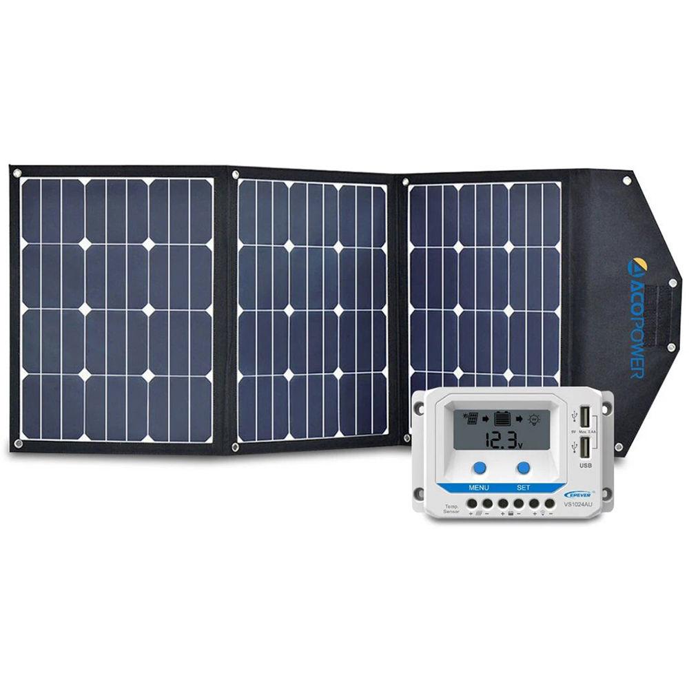 Acopower 120w Foldable Solar Panel Kit Hy 3x40w18v2 B H Photo