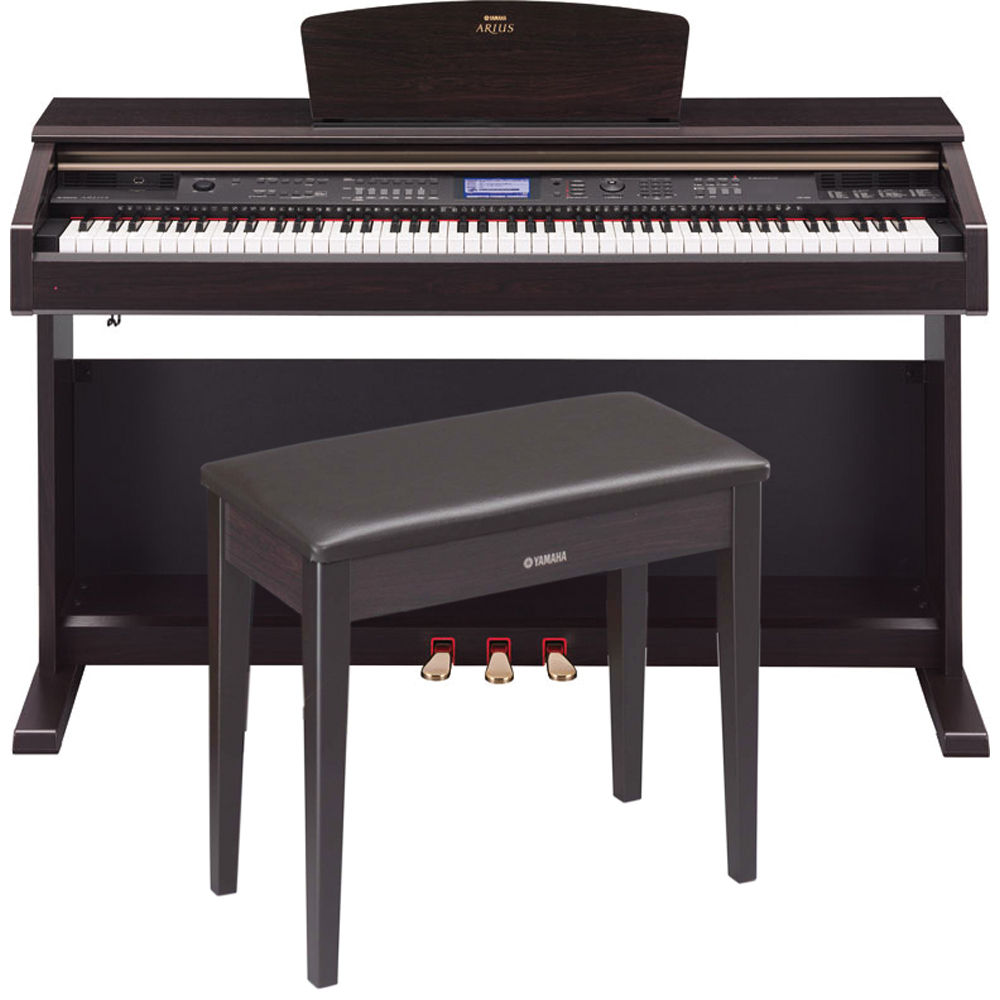 yamaha ydp v240 arius home digital piano with bench ydpv240 b h. Black Bedroom Furniture Sets. Home Design Ideas