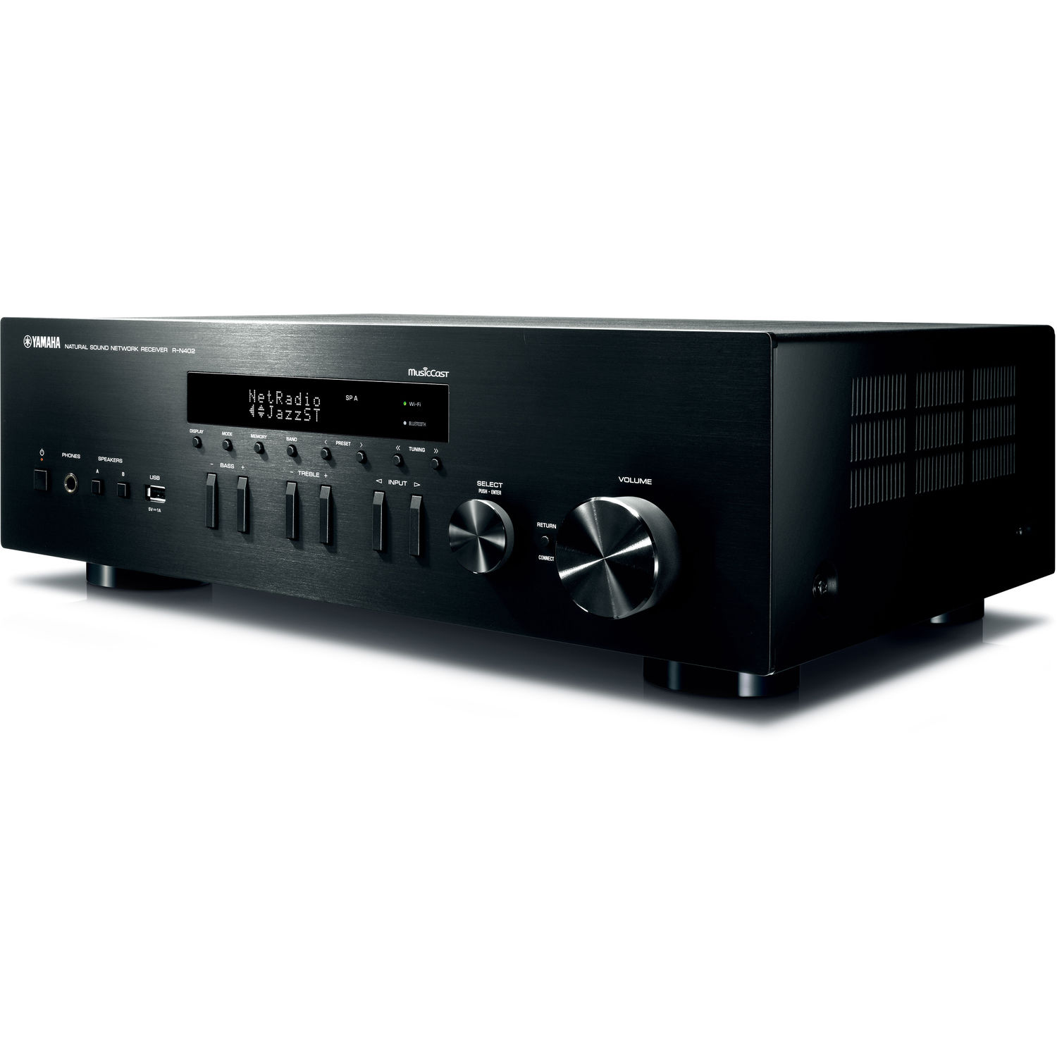 Yamaha MusicCast R-N402 Stereo Network Receiver (Black)