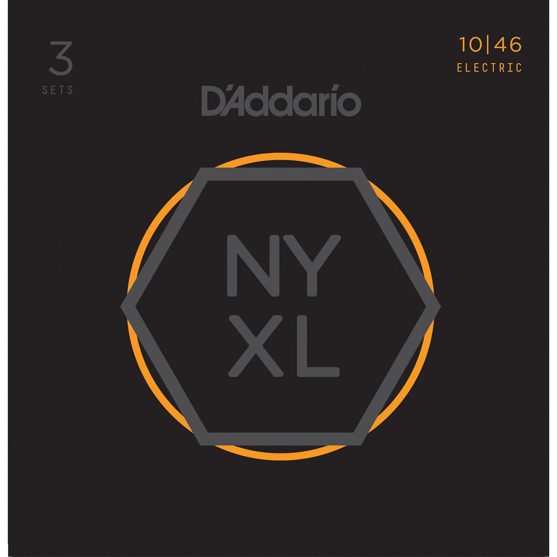 Regular Light /& Pro-Winder Bundle DAddario NYXL1046 Nickel Wound Electric Guitar Strings