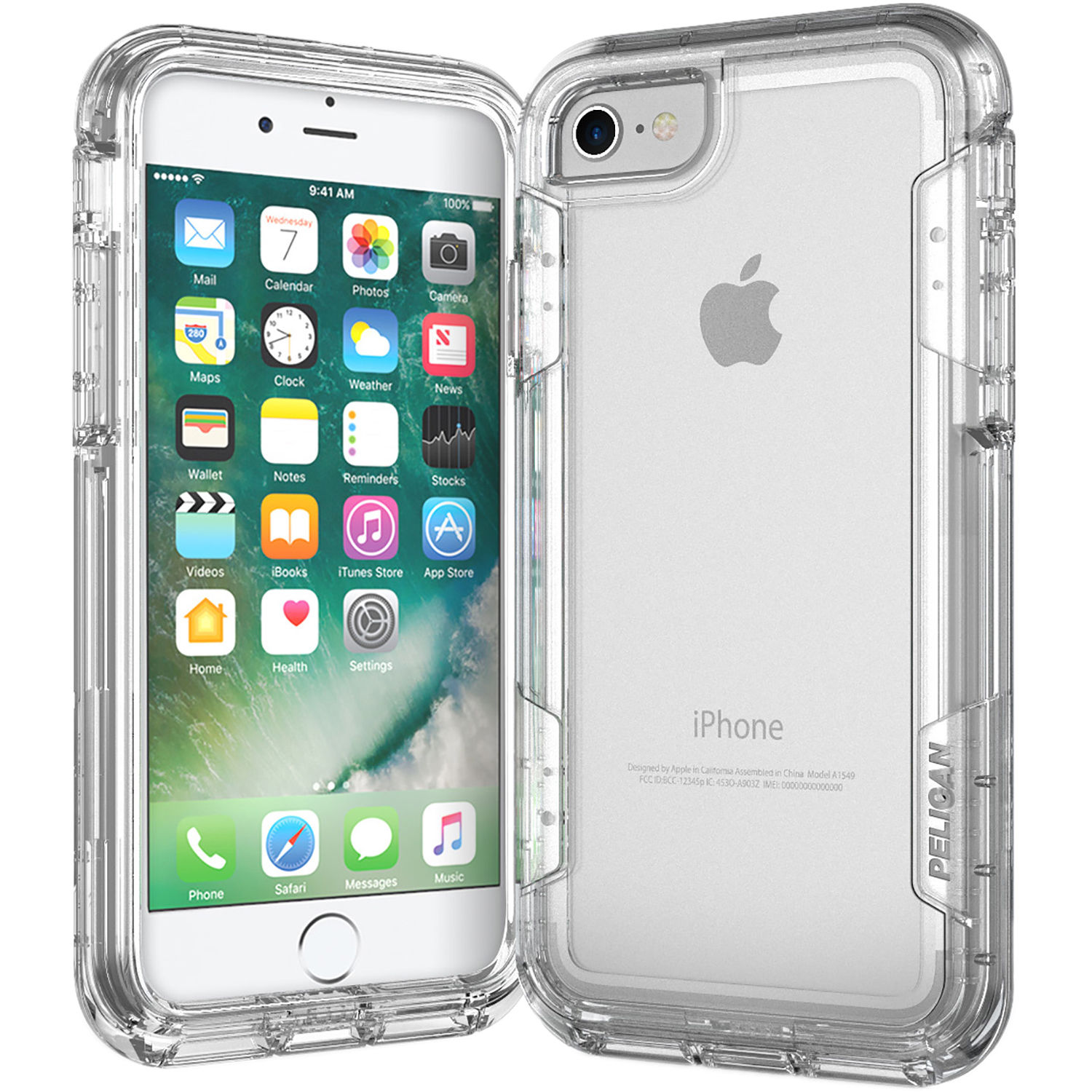 buy popular 6ac5c 2a1c2 Pelican Voyager Case for iPhone 7 (Clear/Clear)