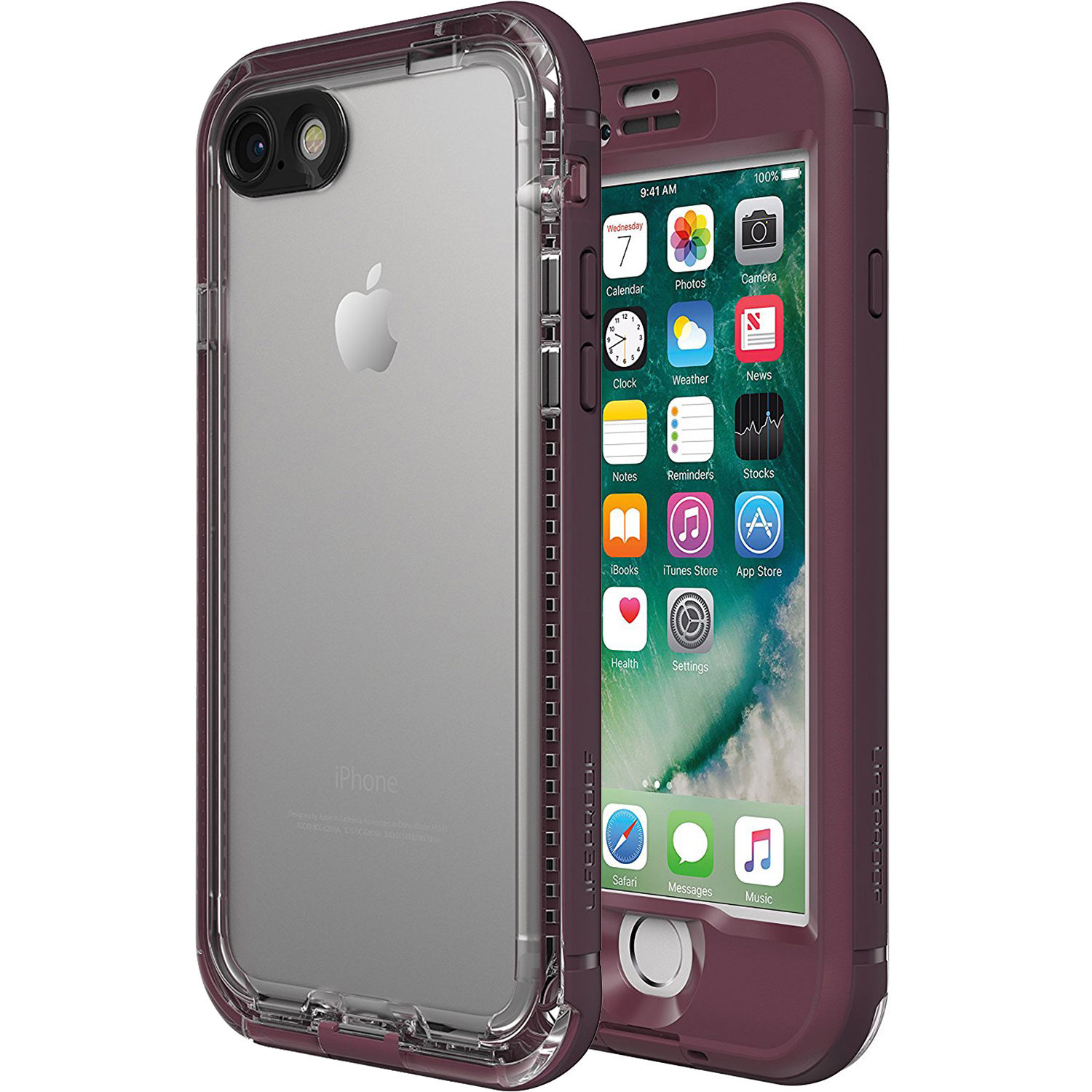 cheap for discount 427c5 5d3b5 LifeProof nüüd Case for iPhone 7 (Plum Reef Purple)
