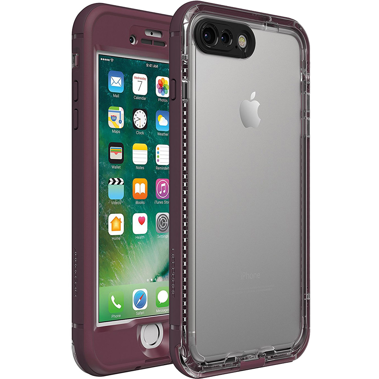 separation shoes 94966 3d626 LifeProof nüüd Case for iPhone 7 Plus (Plum Reef Purple)