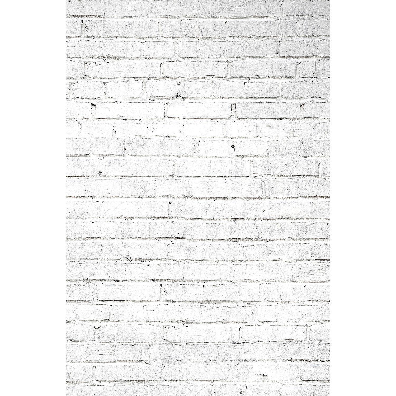 Savage White Brick Printed Vinyl Backdrop (5x7') P-VL722 B&H