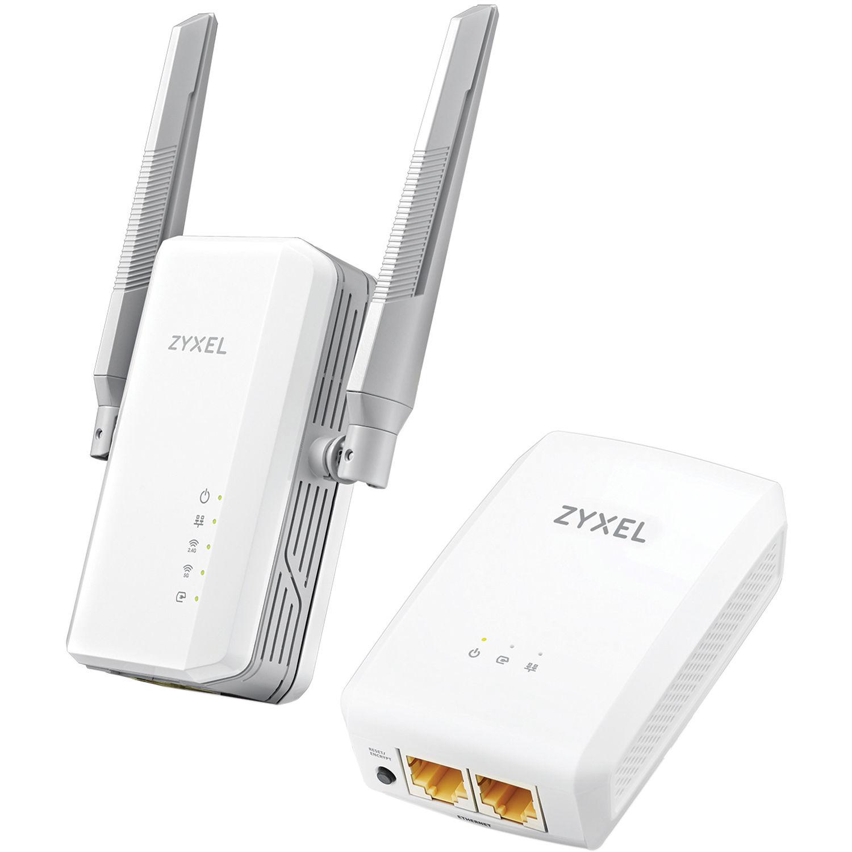ZyXEL PLA5236KIT AV1000 Powerline HomePlug Kit with AC900 Powerline Wi-Fi  Extender