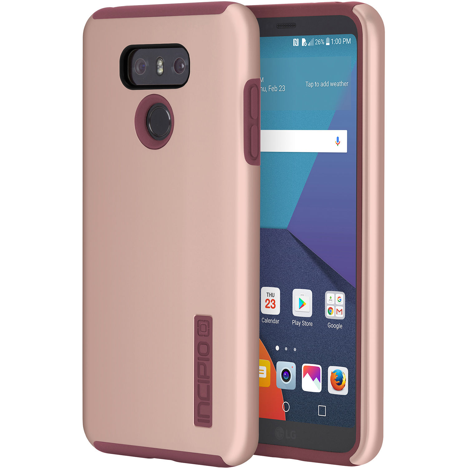 save off 87179 13844 Incipio DualPro Case for LG G6 (Rose Gold)
