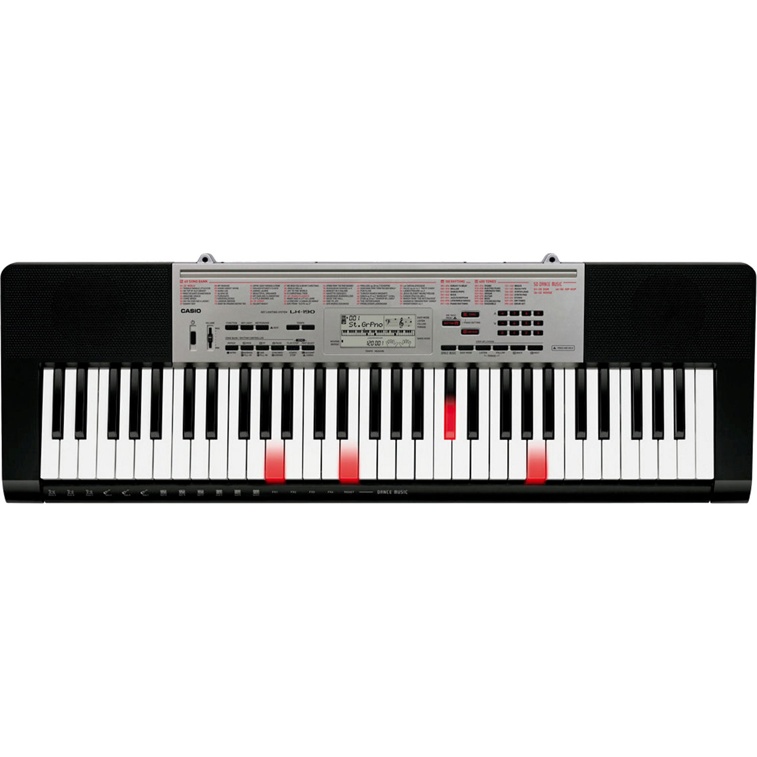Casio LK-190 61-Key, Piano-Style Keyboard with Key-Lighting System