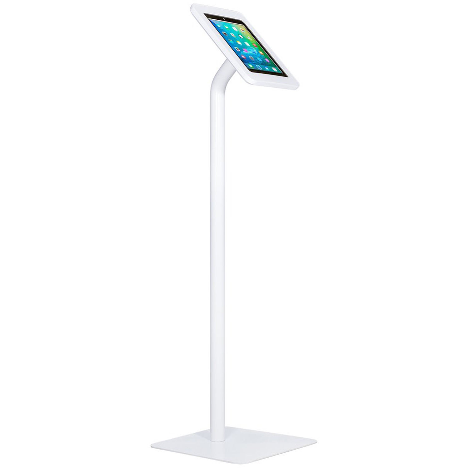 The Joy Factory Elevate II Floor Stand Kiosk for iPad 9 7 5th Gen & iPad  Air (White)