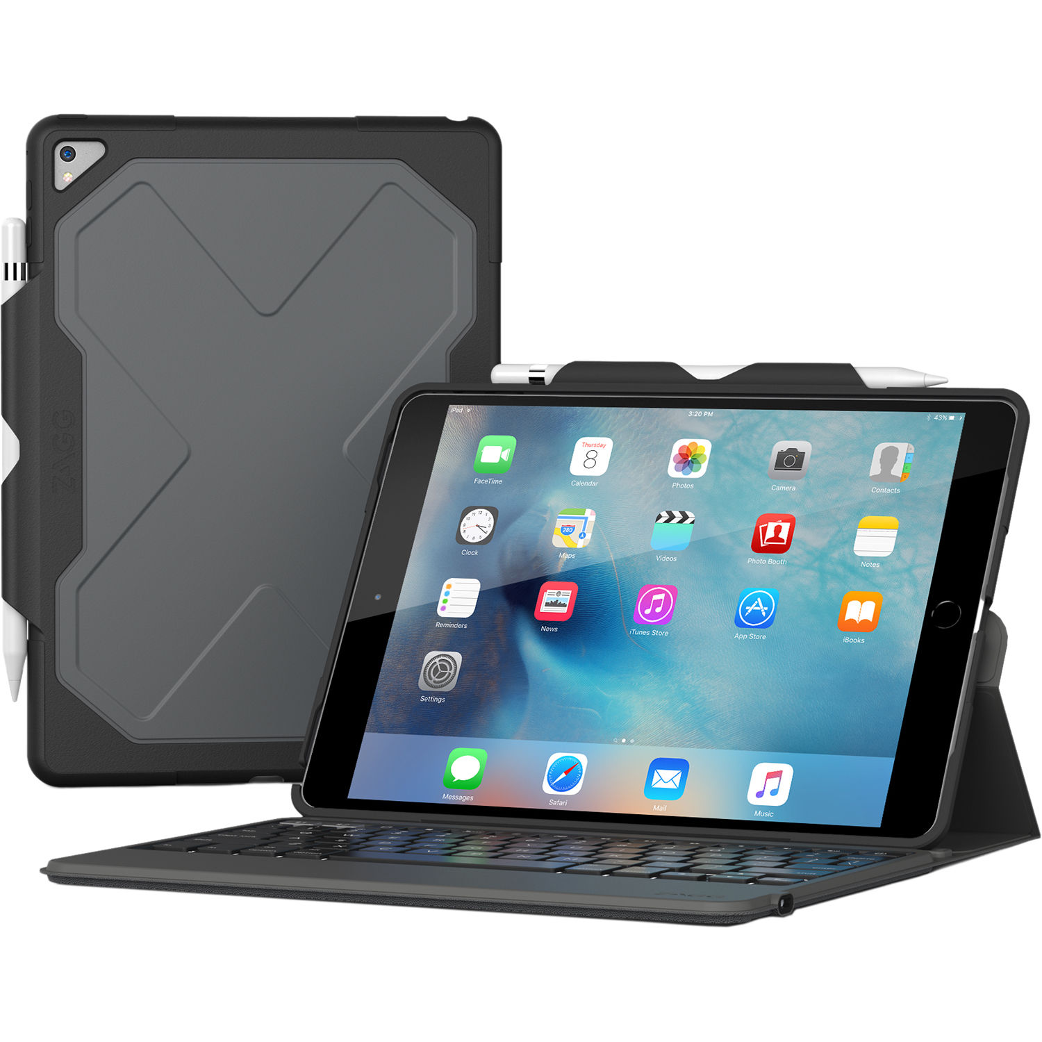 Zagg Rugged Messenger Keyboard Case For Ipad Pro 10 5