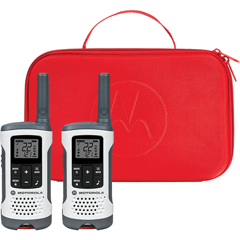 Motorola T280 Two-Way Radio (White, 2-Pack)