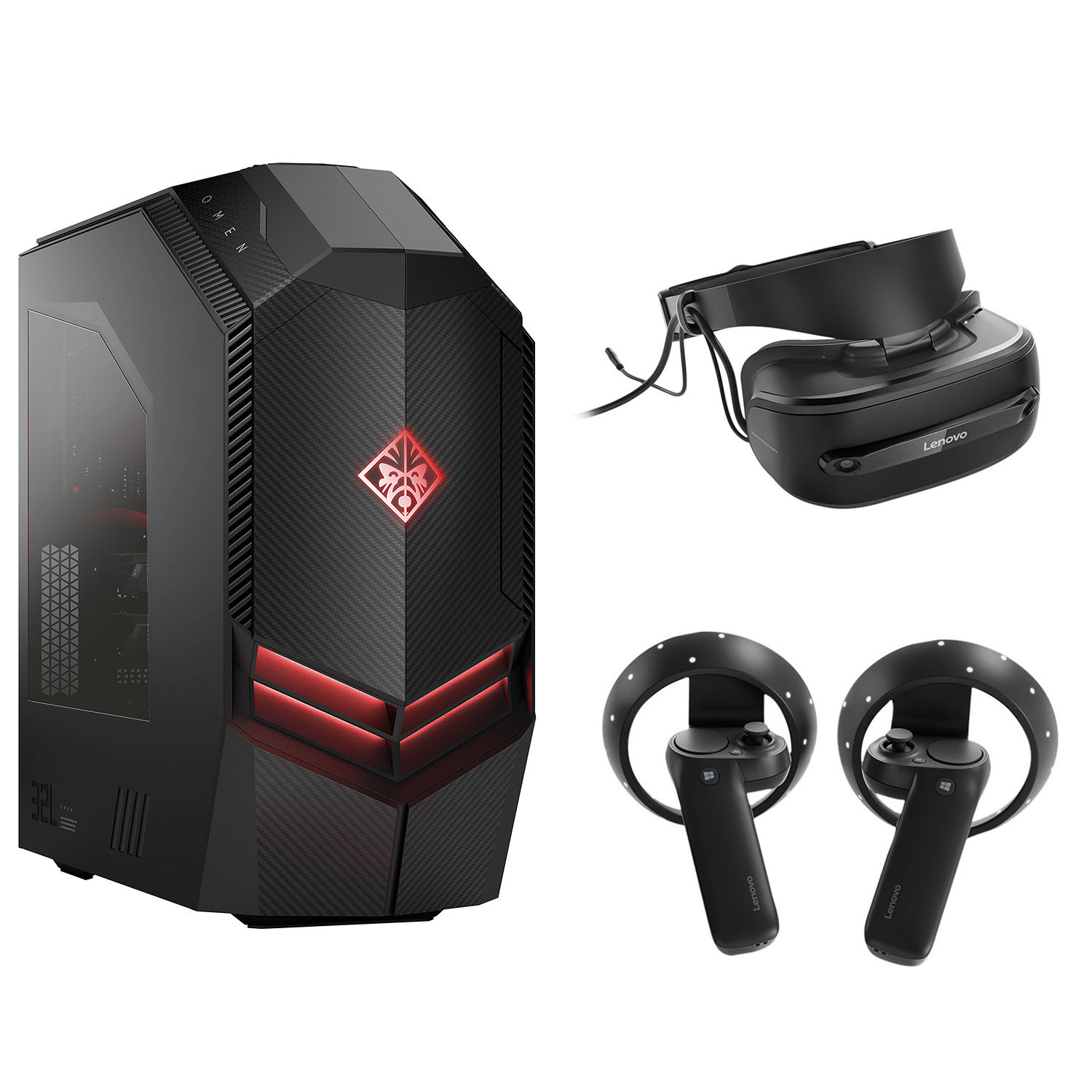 HP OMEN 880-120 Desktop Computer with Mixed Reality Headset Kit