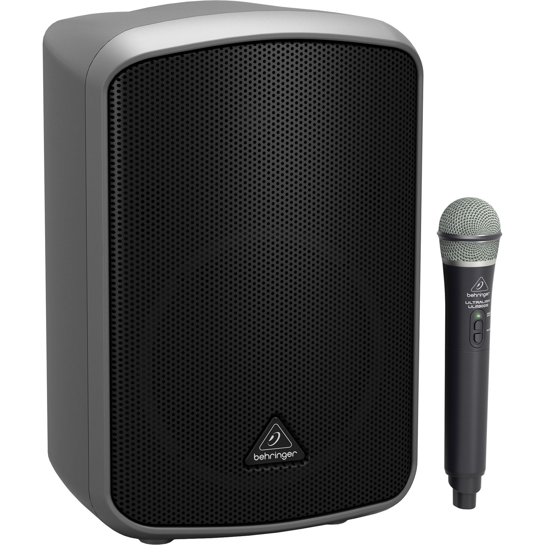"Behringer Europort MPA9BT 9"" 9W Portable Bluetooth Speaker with  Wireless Handheld Mic"
