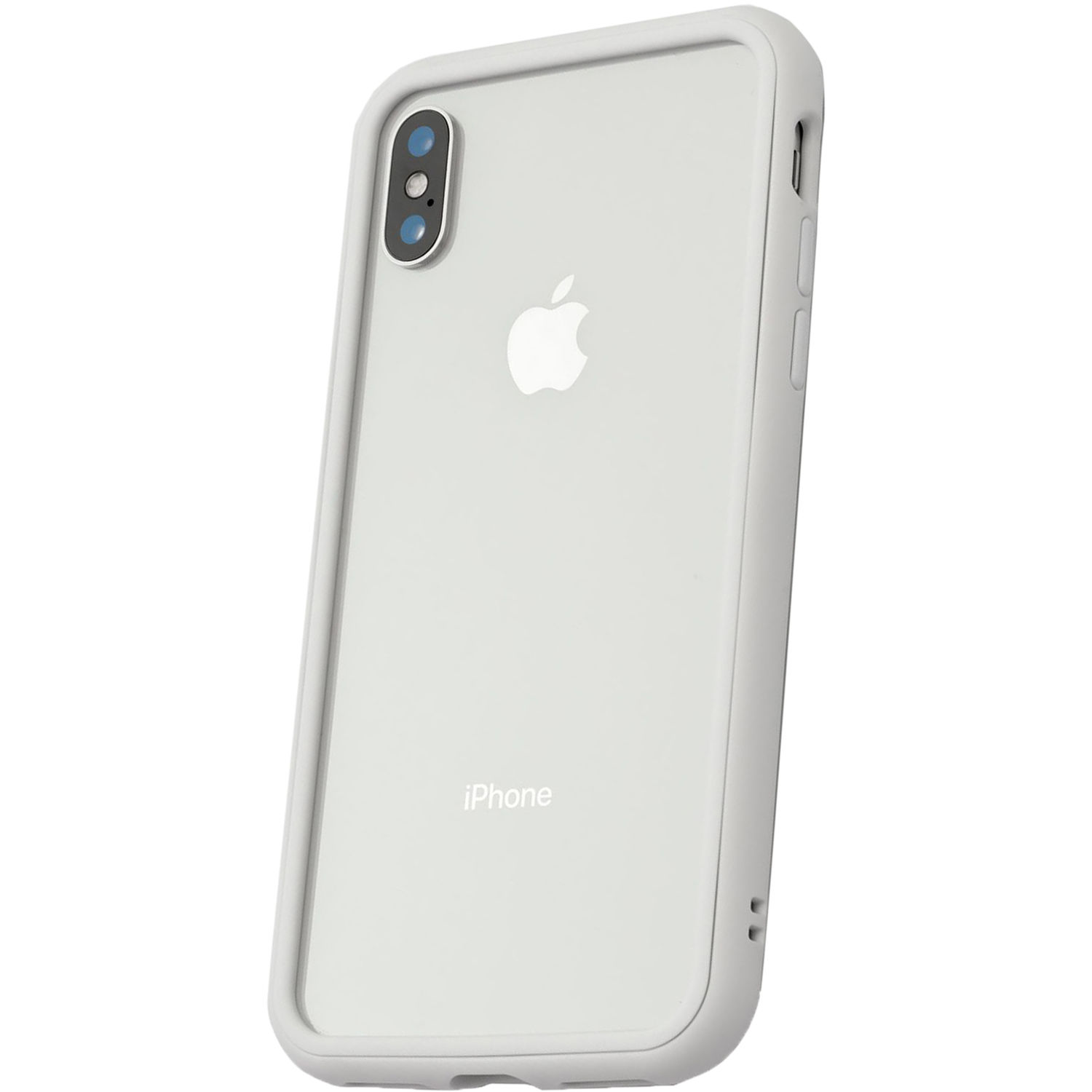 new styles 3bf90 48650 RhinoShield Mod Case for iPhone X (White, Clear Backplate)