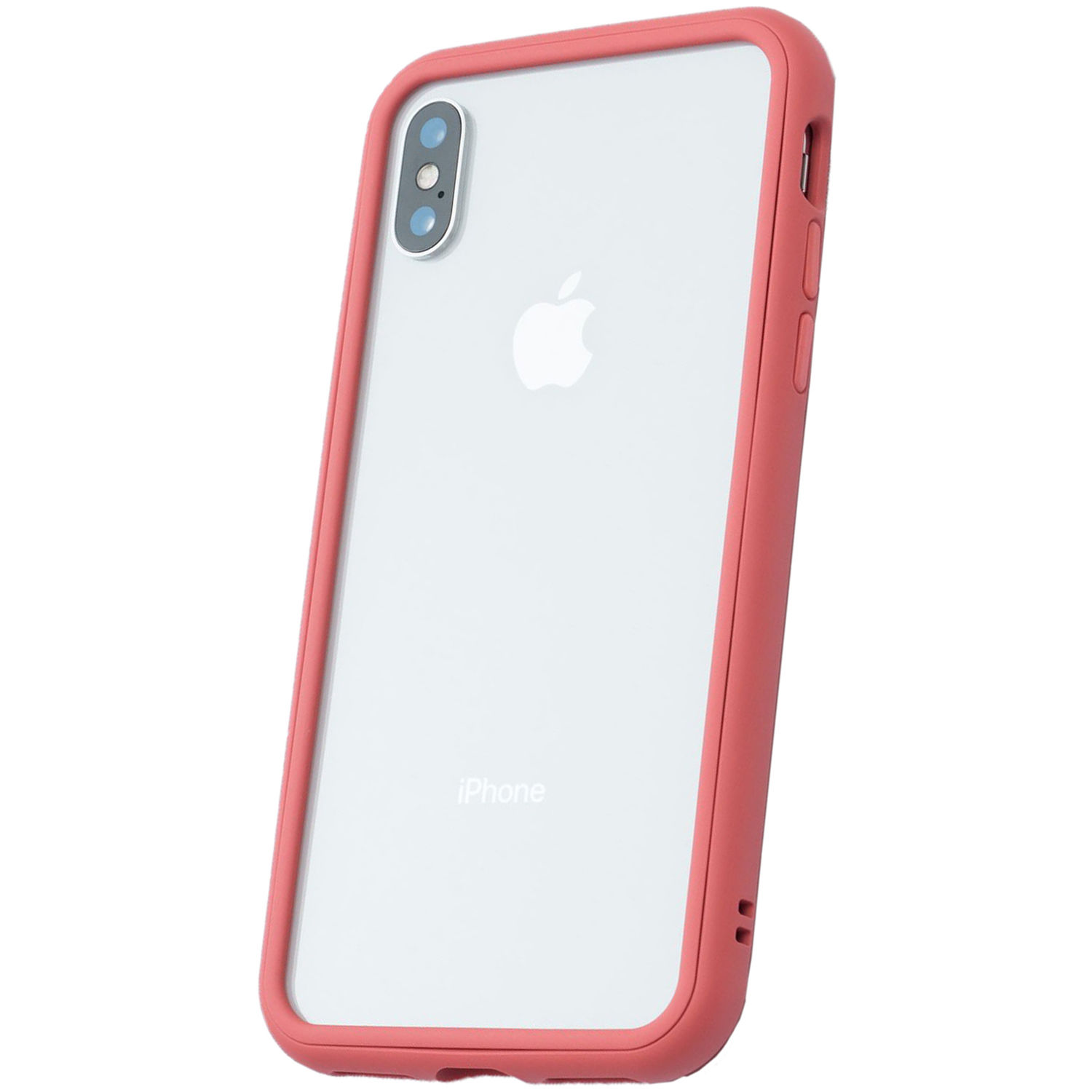 low priced c954a c441c RhinoShield Mod Case for iPhone X (Coral Pink, Clear Backplate)