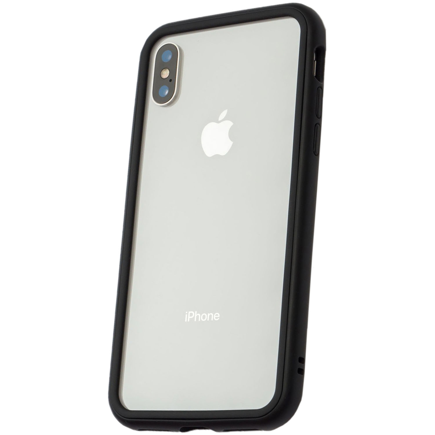 new arrival 5f9f2 90251 RhinoShield Mod Case for iPhone X (Black, Clear Backplate)