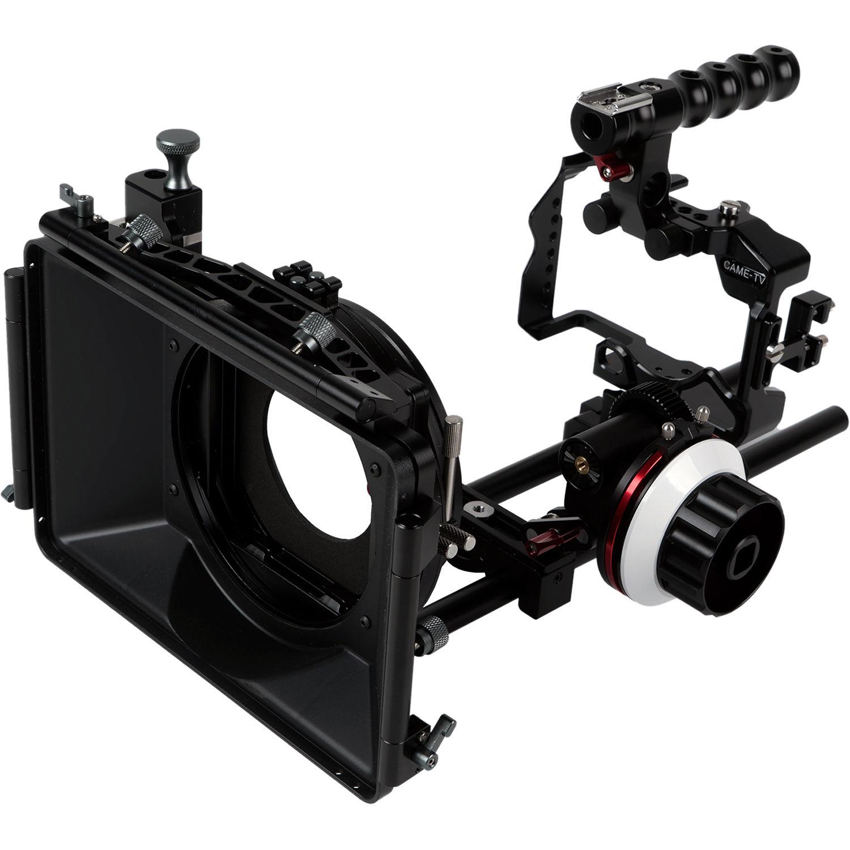 Tragbare Kamera Video Rig Handstabilisator Kit mit Matte Box Follow Focus