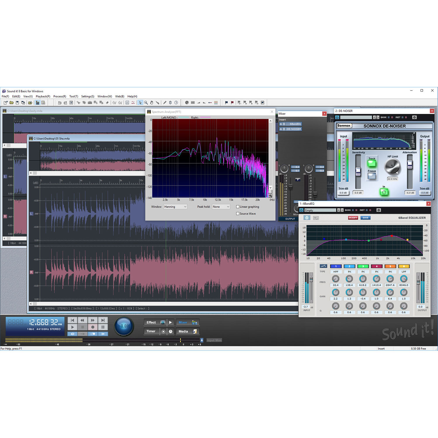 Internet Co  Sound It! 8 Basic - 2-Track Audio Recording and Editing  Software (Windows, Download)
