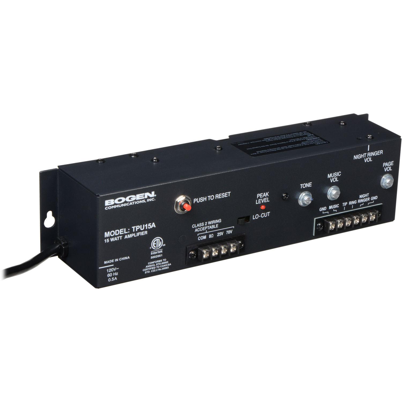 Bogen Communications Tpu15a Telephone Paging Amplifier Tpu15a