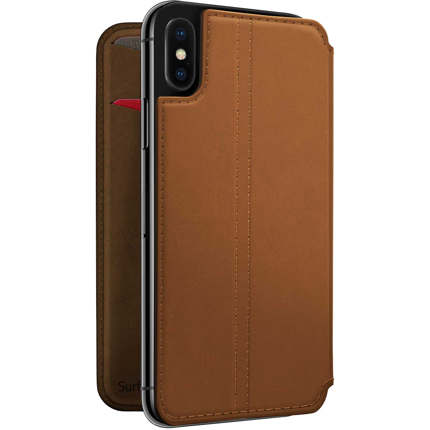 the latest 75a99 3d331 Twelve South SurfacePad Case for iPhone X (Cognac)