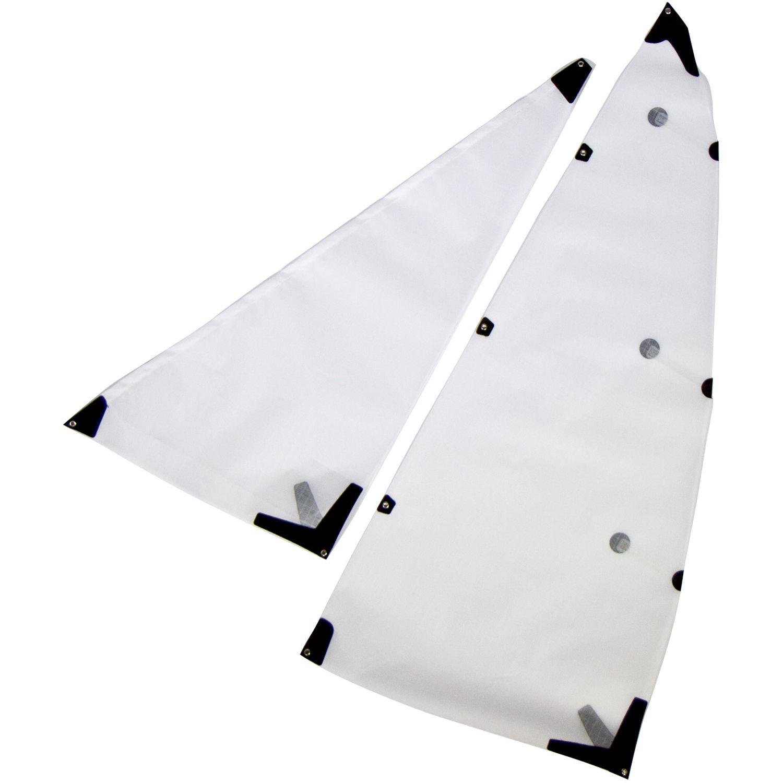 Atomik RC Sails for Joysway V1-V5 Dragon Force RC Sailboat (Set of 2, Style  C/White)
