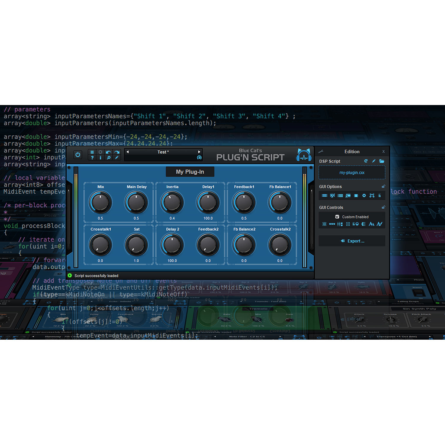 Blue Cat Audio Plug'n Script - Audio and MIDI Scripting 11-30208