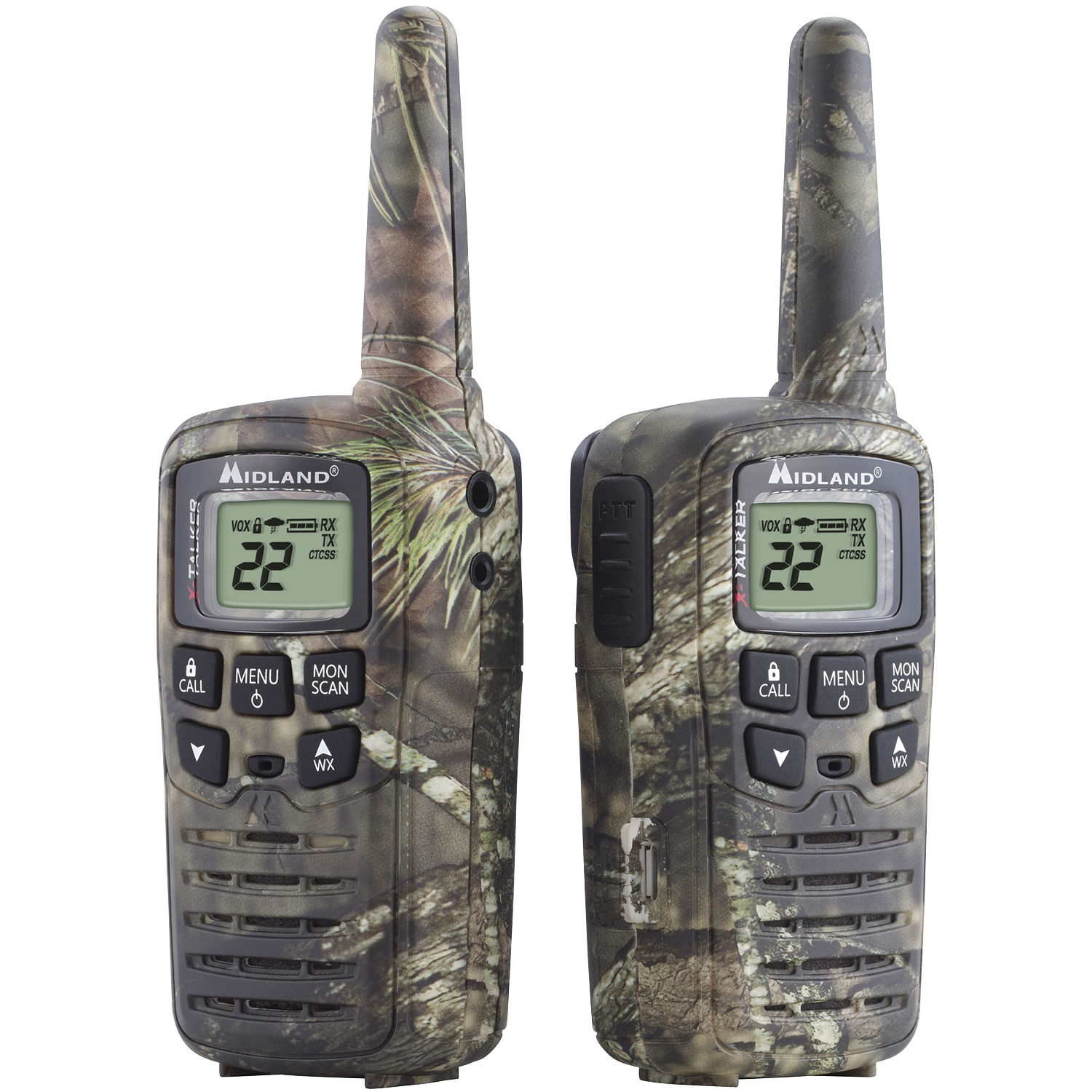 Midland 22-Channel, 26-Mile Range X-Talker Radios With Batteries And USB  Cable Charger (2-Pack)