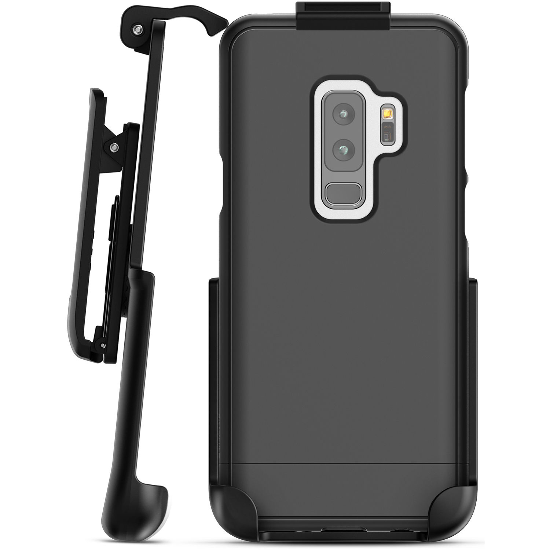 more photos 66cfc dbe2b Encased SlimShield Belt Clip Holster Case for Samsung Galaxy S9 (Black)