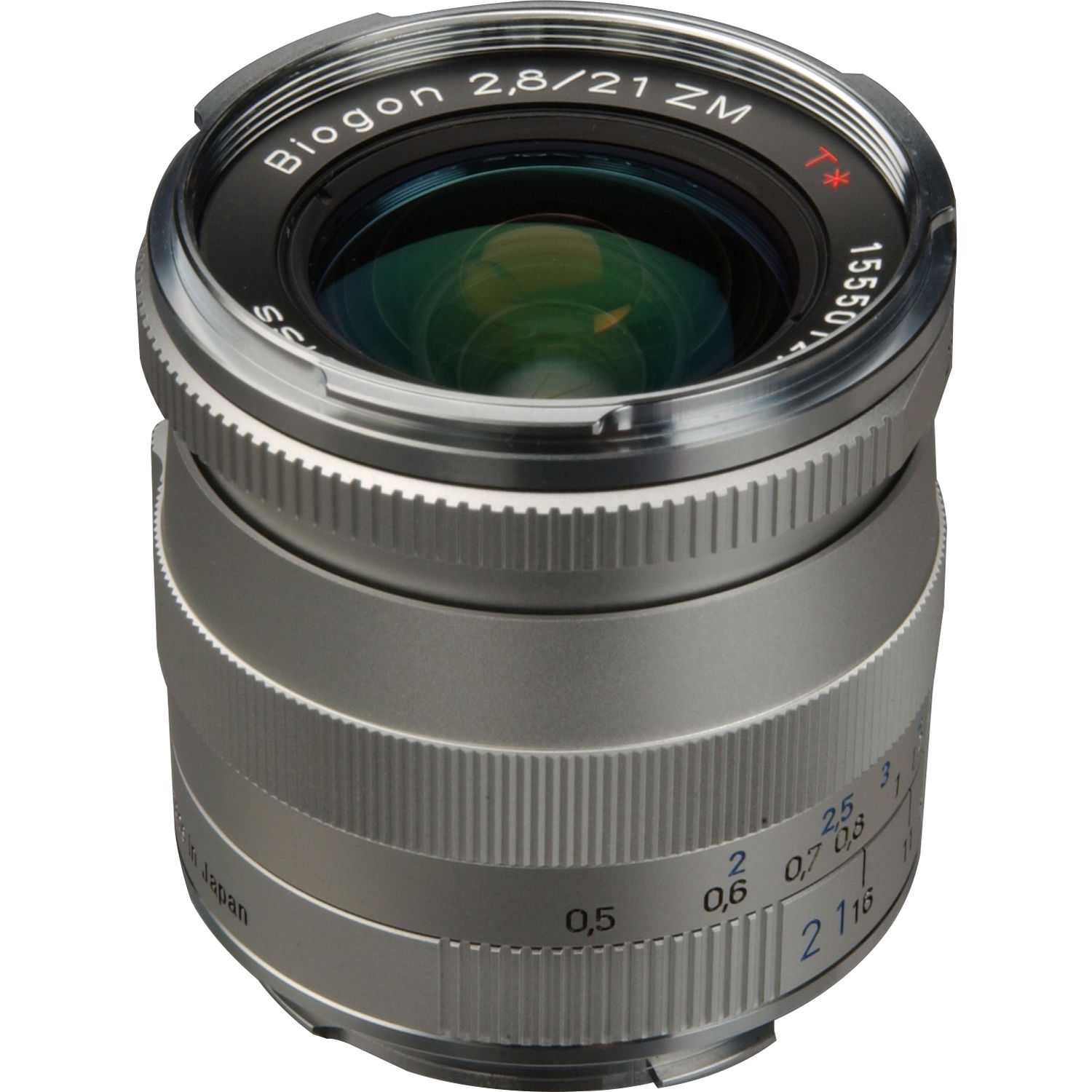 ZEISS Biogon T* 21mm f/2 8 ZM Lens (Silver)