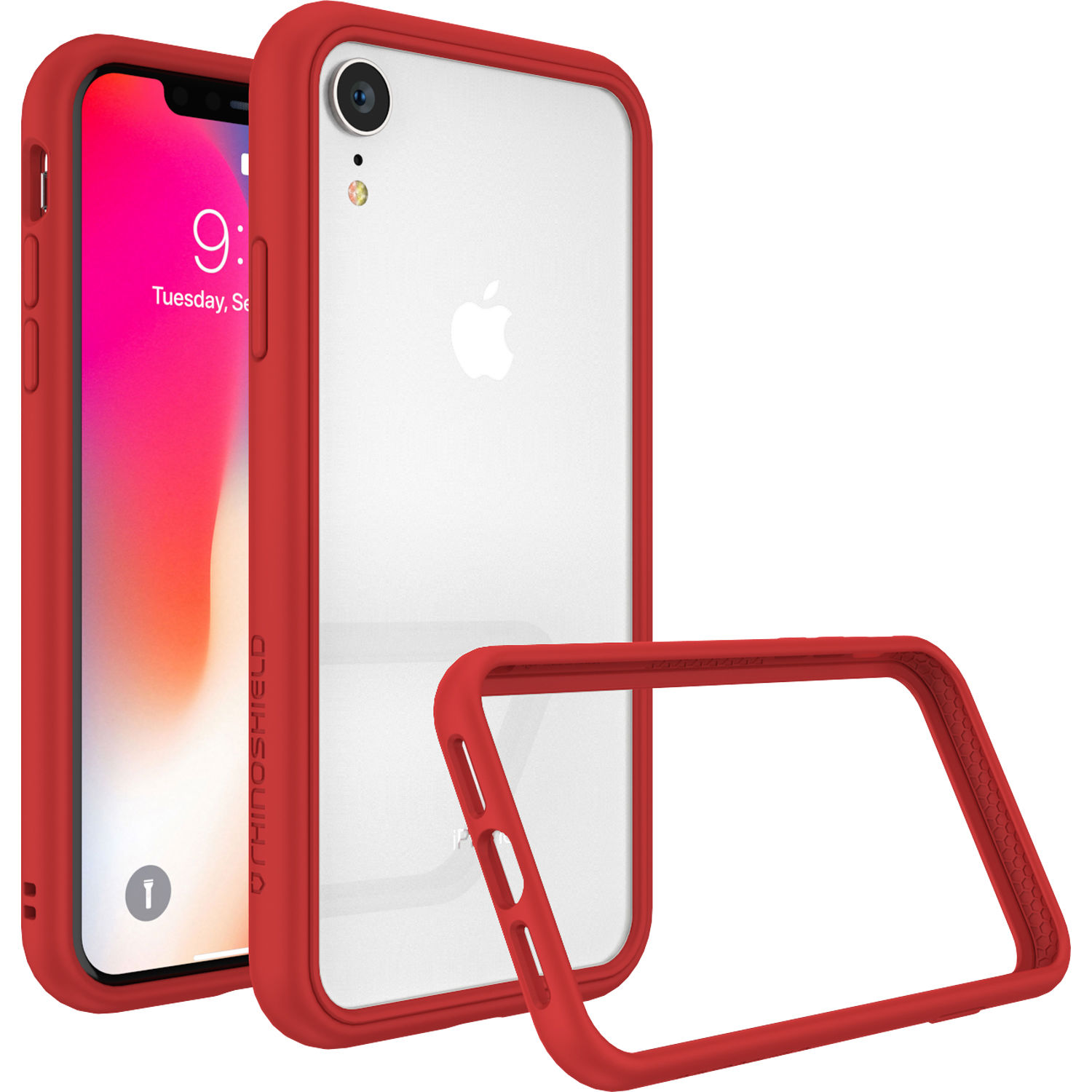 iphone xr red bumper case
