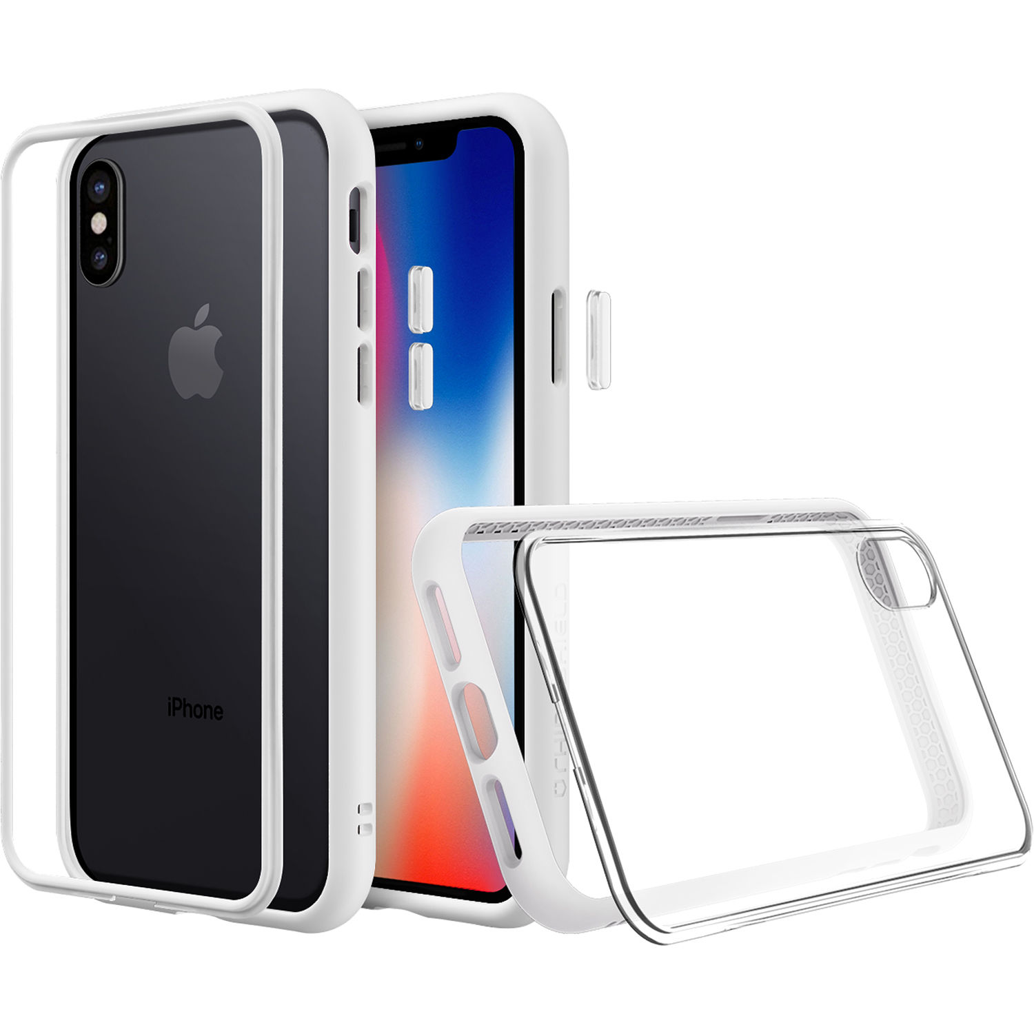 premium selection eabf3 ec409 RhinoShield Mod NX iPhone X Case (White)