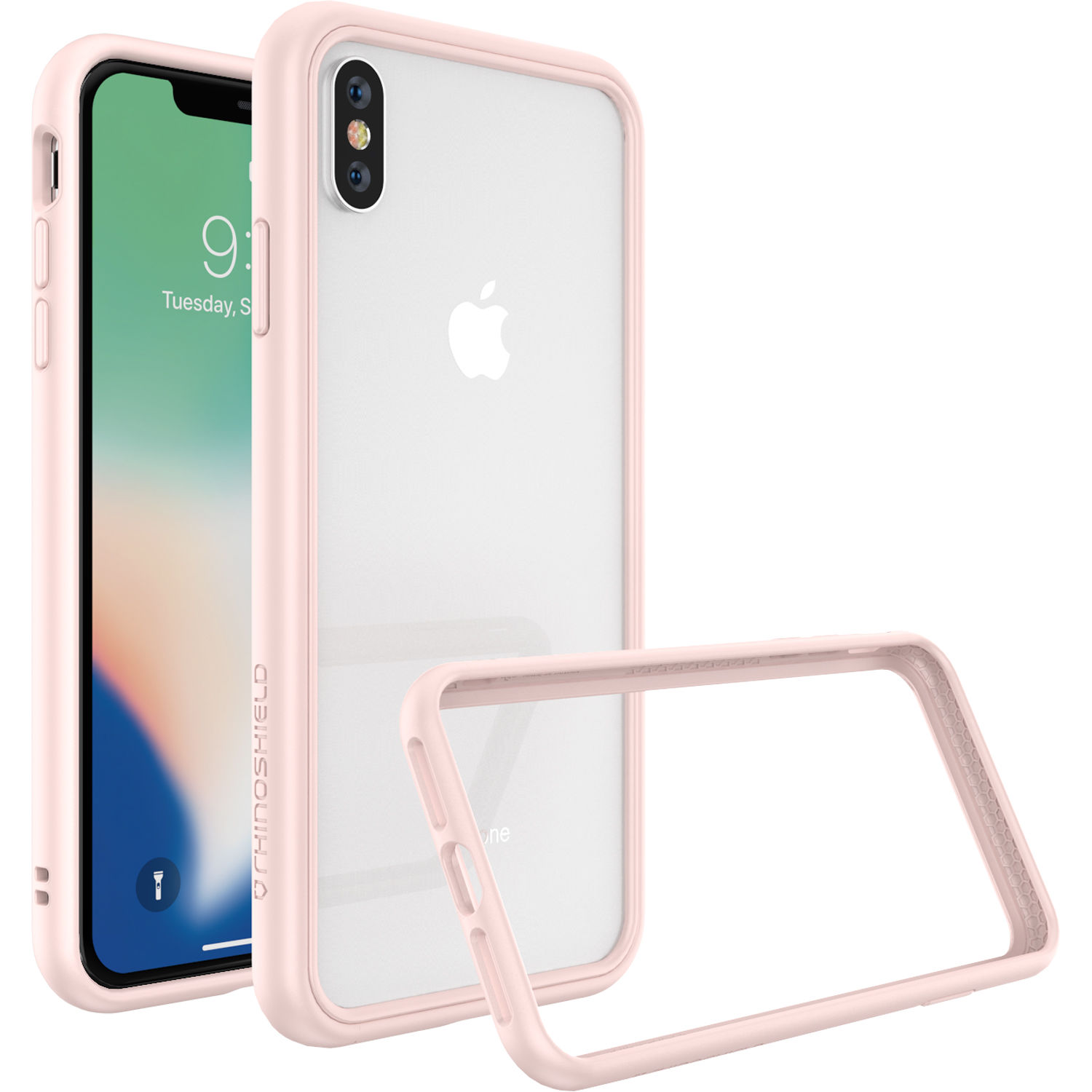 new arrival 7cd20 7a452 RhinoShield Mod NX iPhone XS Max Case (Blush Pink)