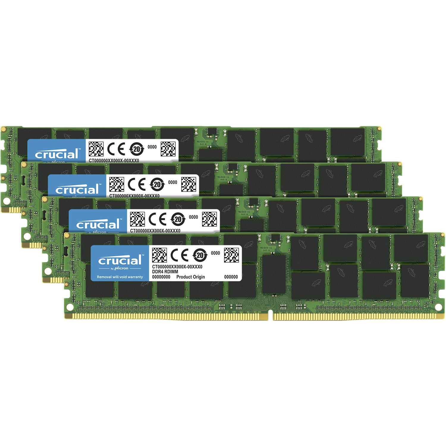 Crucial 64GB Kit (4 X 16GB) DDR4-2933 RDIMM