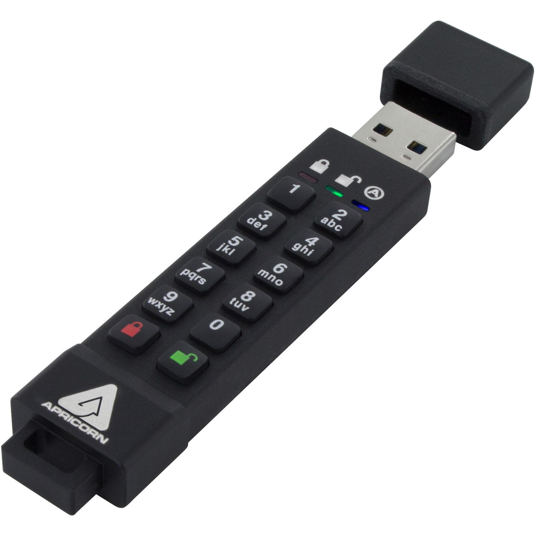 16GB Apricorn Aegis Secure Key 3z USB 3.1 Type-A Black USB Flash Drive