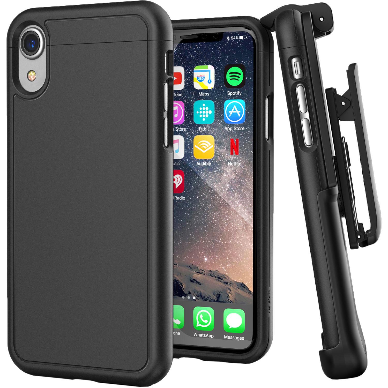 Encased SlimShield Belt Clip Holster Case for iPhone XR (Black)
