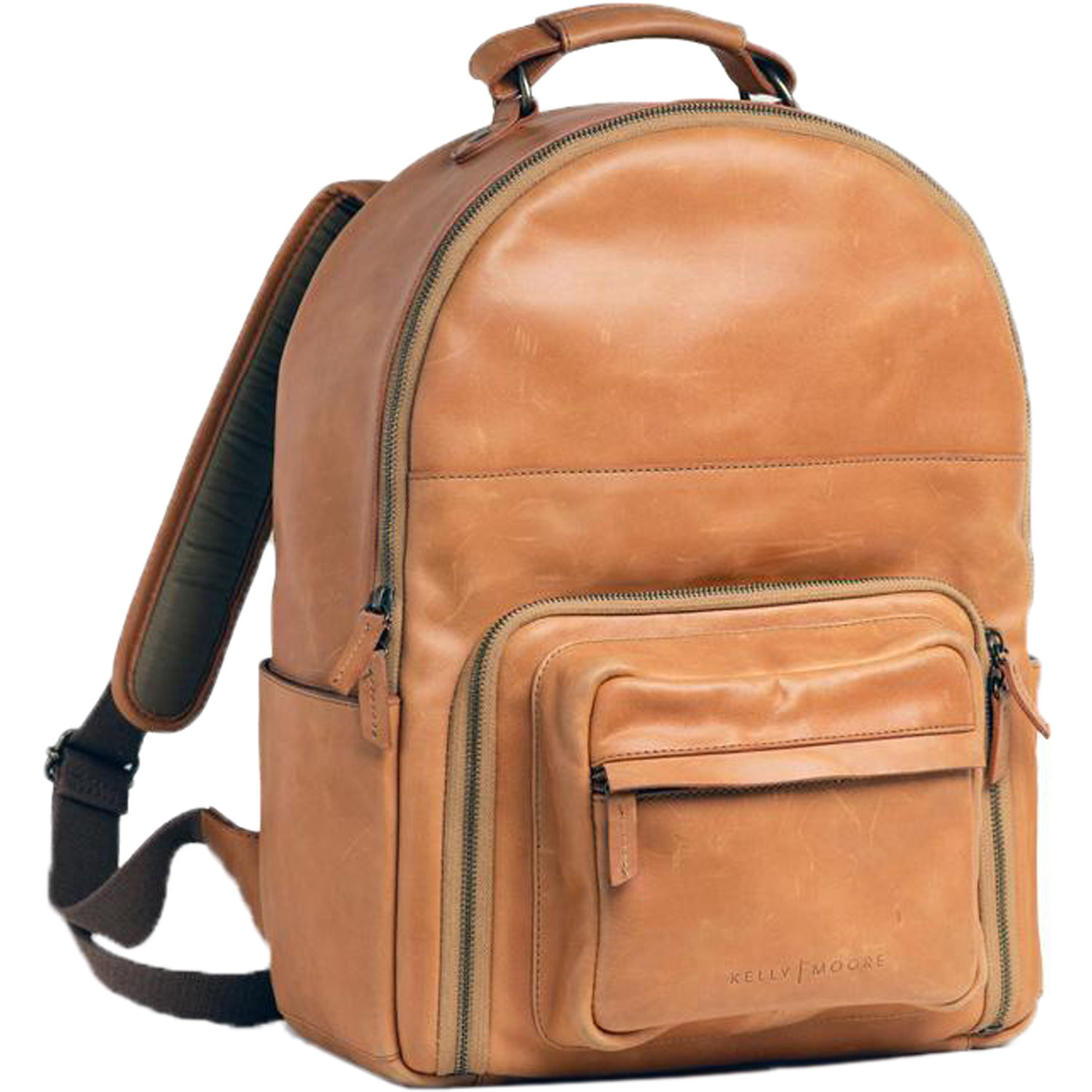 Kelly Moore Bag The Tourist Full Grain Leather Camera Backpack Light Brown
