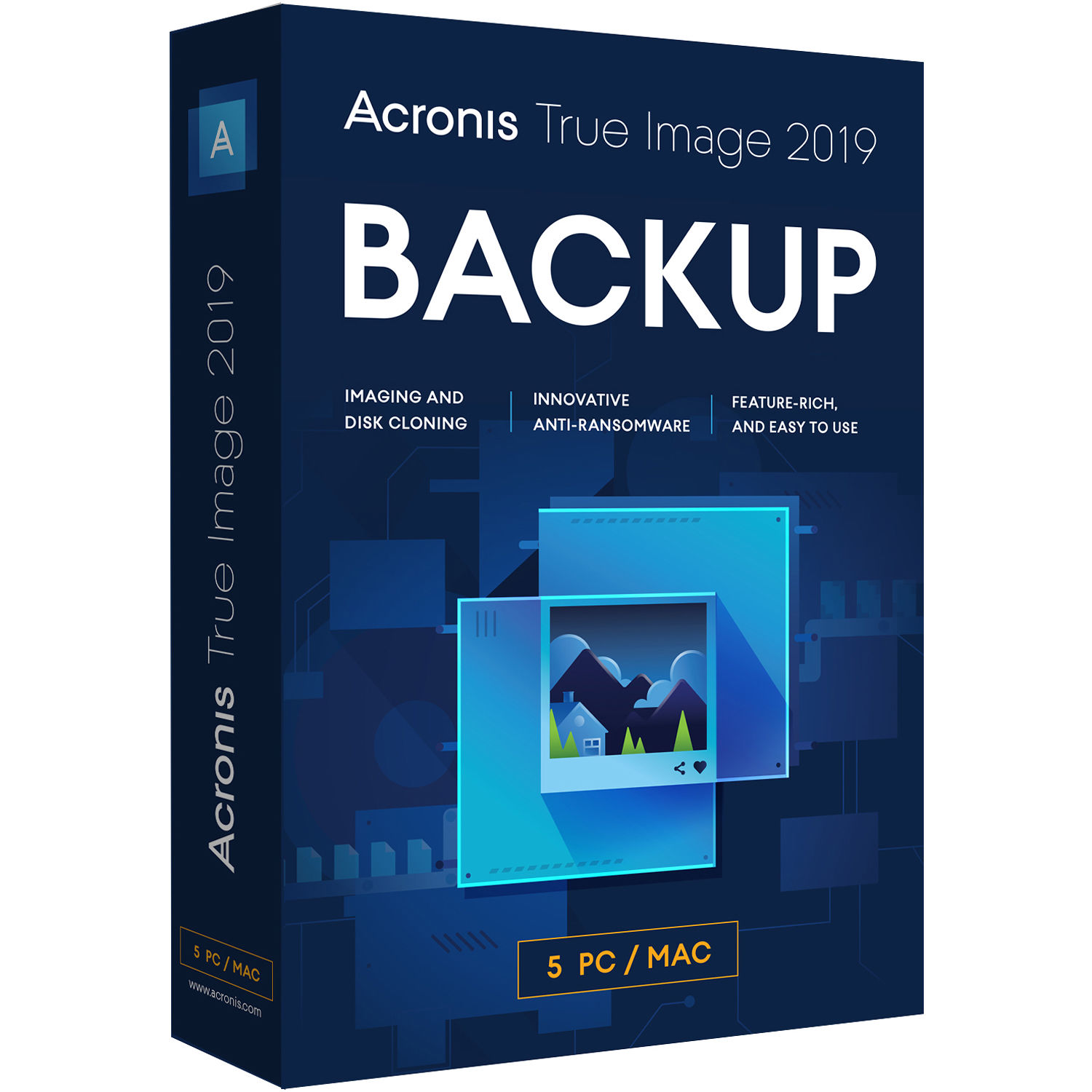 Acronis 1-Year True Image 2019 Essential Subscription (5 Computers)