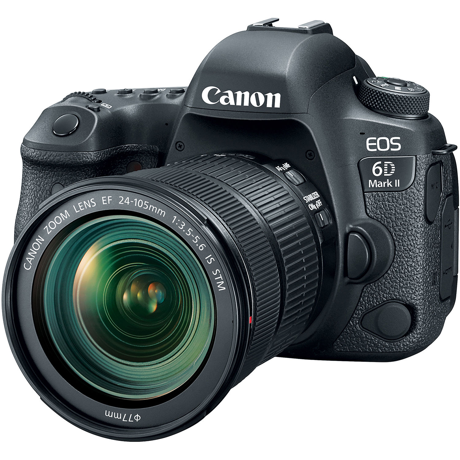 Canon EOS 6D Mark II DSLR Camera with 24-105mm f/3 5-5 6 Lens