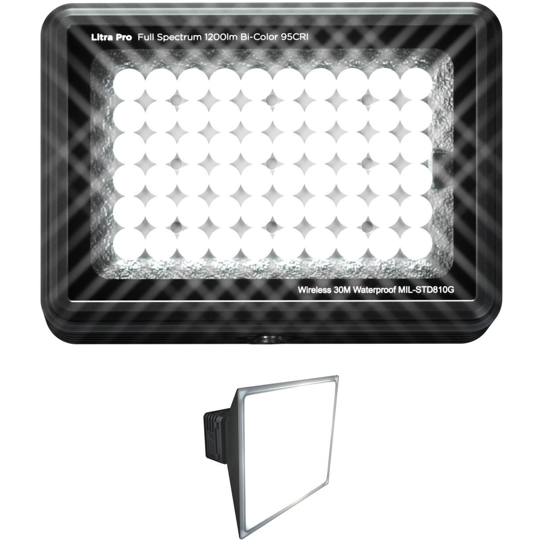 LITRA LitraPro Bi-Color On-Camera Light with Filter Set for Litra Pro Bi-Color LED Light /& V-Rig 4.1 Triple Shoe Bracket Bundle
