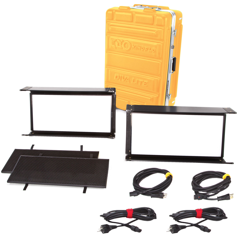 Kino Flo Diva Lite LED 112 DMX 12 Light Kit with Flight Case
