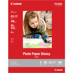"""Canon Photo Paper Glossy (8.5 x 11"""", 100 Sheets)"""