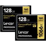 Lexar 128GB Professional 1066x Compact Flash Memory Card (UDMA 7, 2-Pack)