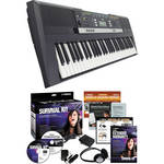 Yamaha PSR-E243 Portable Keyboard with Survival Kit Bundle