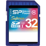 Silicon Power 32GB Superior UHS-I SDHC Memory Card (Class 10)