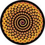 """Rosco Standard Color Glass Spectrum Gobo #86644 Spiral Bling (86mm = 3.4"""")"""