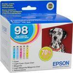 Epson Epson 98 High Capacity Claria Ink: Full Color Cartridge Set