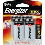 Energizer 9V Alkaline Batteries (4-Pack)