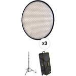 """Genaray PortaSun 20"""" Round Flexible Bi-Color LED 3-Light Kit"""
